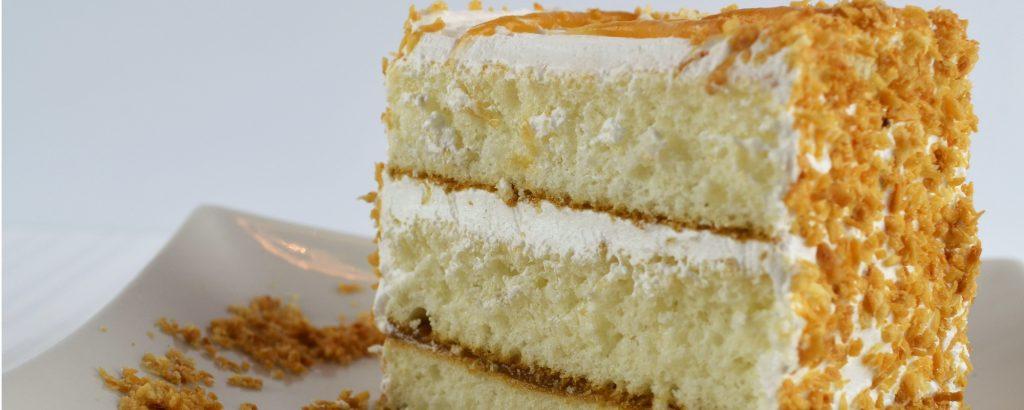 Gâteau barre au caramel